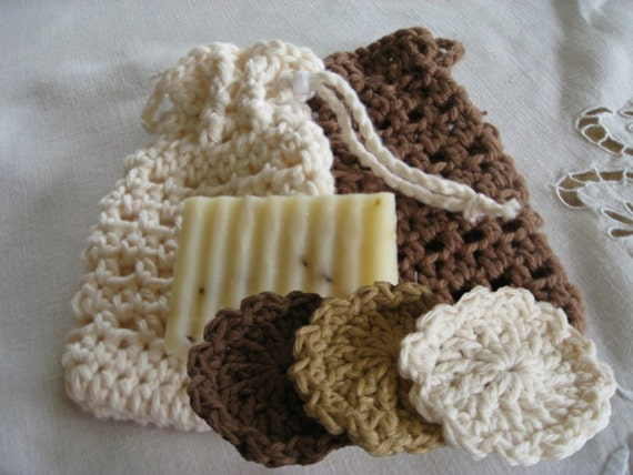 Soap Cozy & Scrubbies  for Bath or Spa, Crochet Pattern PDF12-005 INSTANT DOWNLOAD