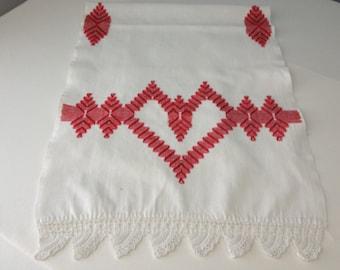 Red Heart Table Runner