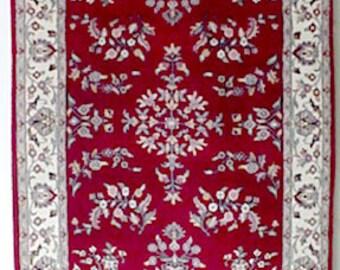 Oriental Rug - 1990s Vintage, Hand-Knotted, Indo-Sarouk Rug (1567)