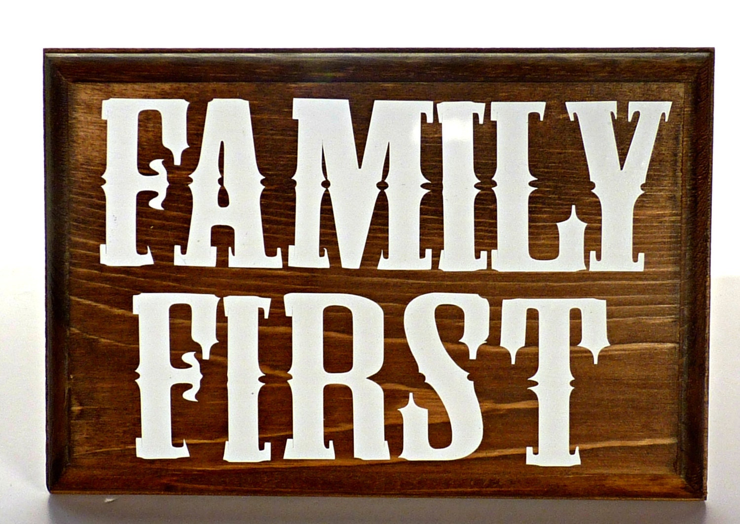 One Wood Wall Plaque Wall Decor Family by KyleeInspiredCrafts