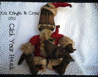 E Pattern Kris Kringle and Crow Santa  Click Your Heels