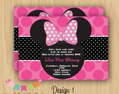 DIY Digital Girl Mouse Ears Inspired Invitation -Personalized Invitation by Serendipity Party Shop