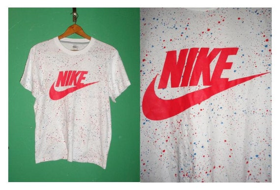 Vintage 1980s 1990s nike galaxy paint splatter tie space dye for Nike tie dye shirt and shorts