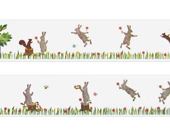 MT Ex Rabbit wide washi tape (1 metre)