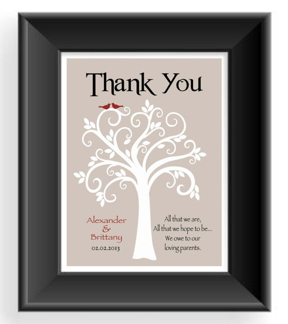 Wedding Gifts For Parents Of The Couple : Wedding Gift for Parents from Bride and Groom- Thank you gift for ...