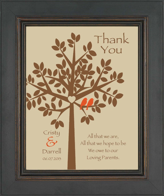 Wedding Gifts For Parents In Law : Wedding Gift for Parents from Bride and Groom- Thank you gift for ...