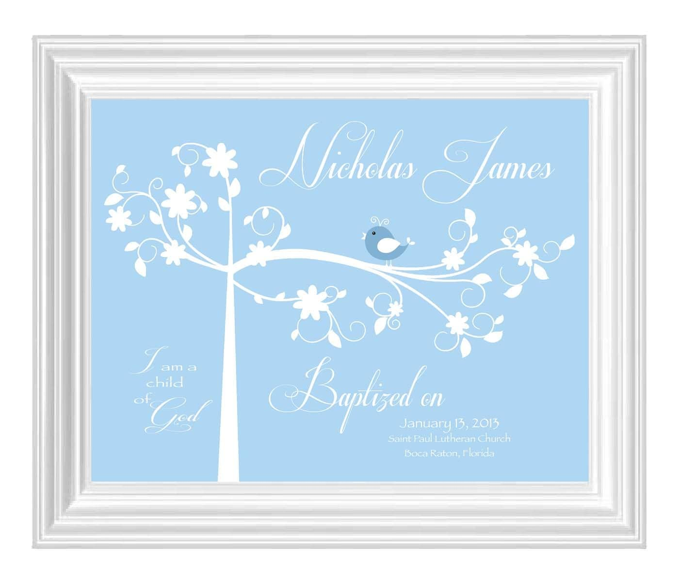 Baptism Gift Christening Gift Baby Boy By Kreationsbymarilyn