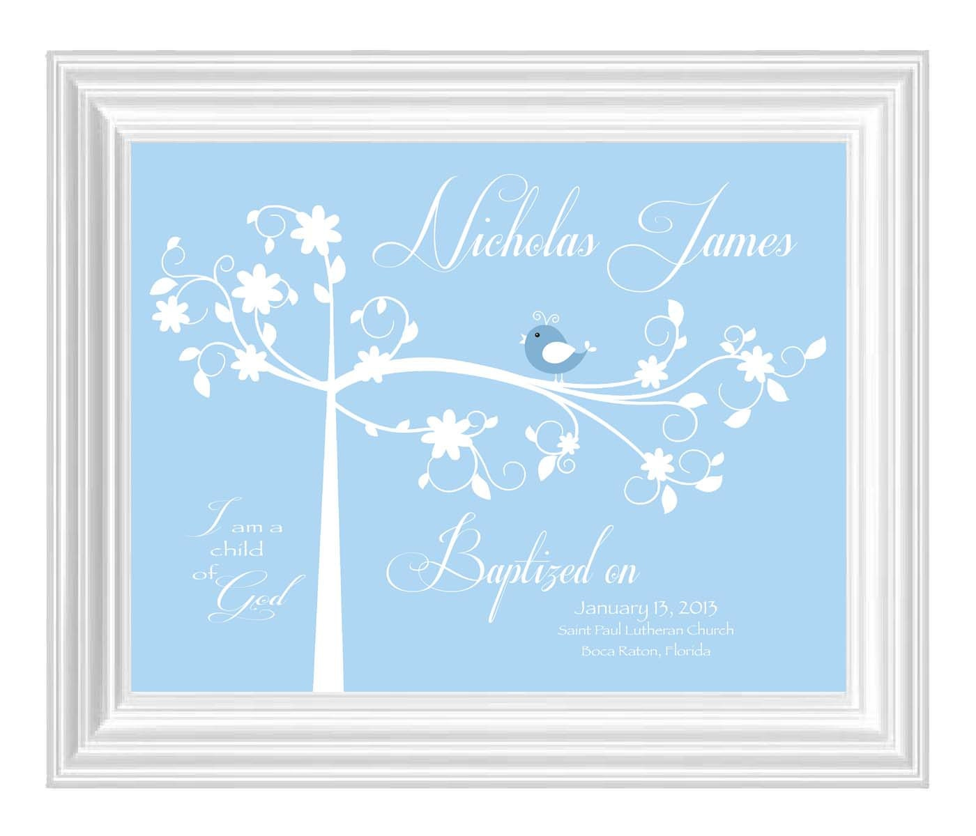Gift Baby Boy Baptism : Baptism gift christening baby boy by kreationsbymarilyn