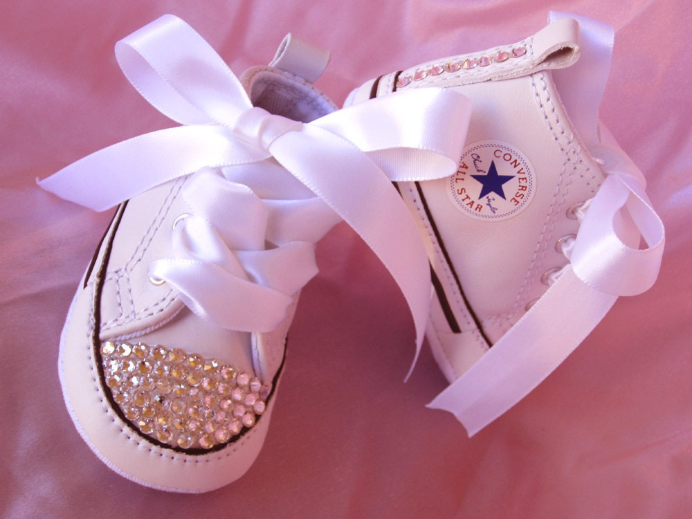 SIMPLY CRYSTALS Baby Shoe Converse Christening Sneaker Wedding