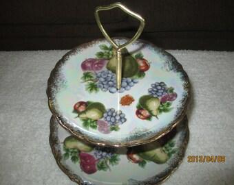 Vintage Nasco Del Coronado painted Fruit Tier Tray