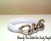 Heavenly Pina Colada Arm Candy Bangle with Silver Chainlinks