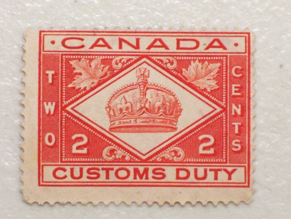 1912 Canada Customs Duty Stamp 2 Cents Mint