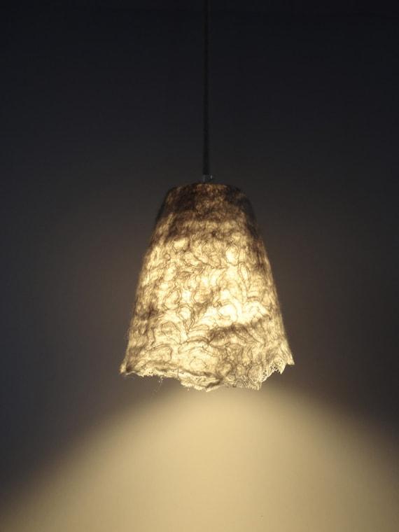 Paralume handfelted lampadario lampada lampada a di atelierflorine