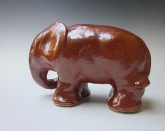 Elephant,Elephant Sculpture,Ceramic Elephant Sculpture,Stylized Elephant,Elephant Sculpture, Miniature Elephant,Art and Collectibles
