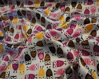Night Owls Satin in Mango/Chocolate by Robert Kaufman Priced by the Yard