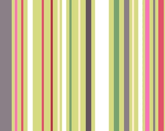 Annalee Variegated Colorful Stripes in Green and White by Jane Dixon for Andover Fabrics priced by the yard