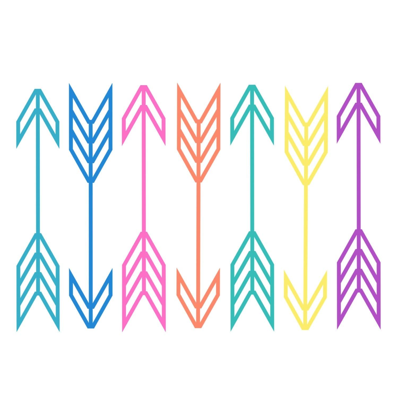 60% OFF SALE // Neon arrow clipart // Digital arrows