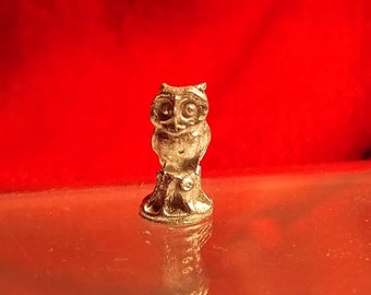 Doll House Owl - Dollhouse Metal Owl Statue or Figurine -  Many Scales