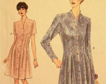 """Dress, Raised Neckline -1990's - Vogue Pattern 9094   Uncut   Size 8-10-12  Bust 31.5-32.5- 34"""""""