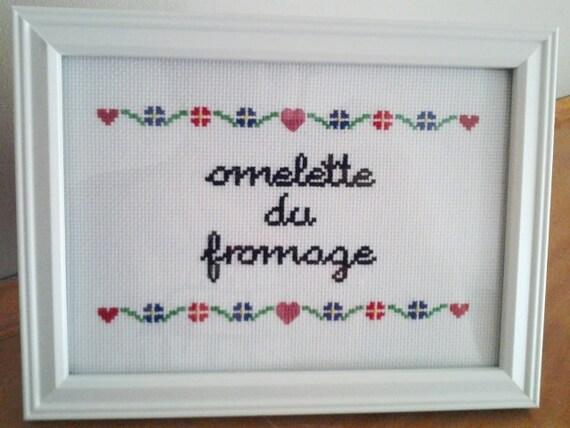 "Dexter's Laboratory ""Omelette du Fromage"" framed cross stitch"