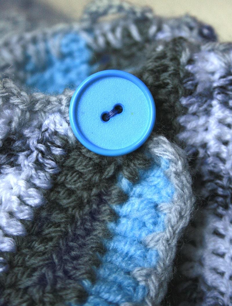 Sleep Sack Sleeping Bag For Baby Crocheted Blue Striped