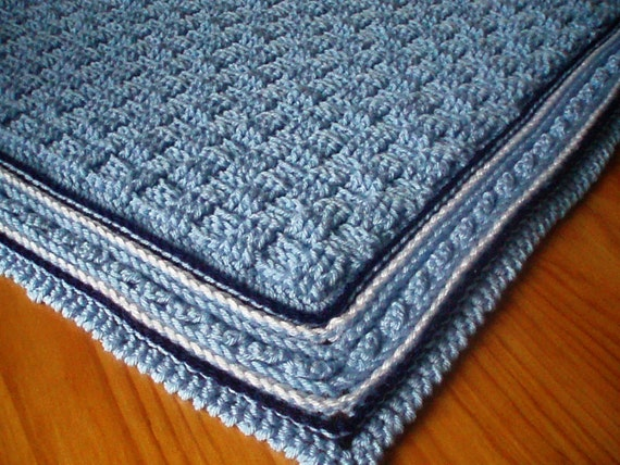 Crochet Pattern For Baby Blanket Basket Weave Stitch Baby