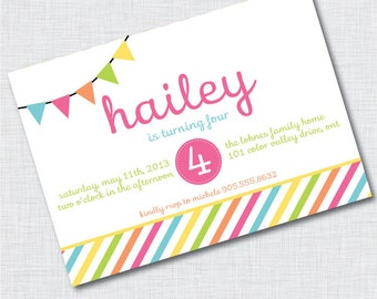 Color Me Pretty Printable Party Invitations : Printable Party Designs by The Paper Doll