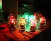 Steampunk Vintage Industrial Railroad Telegraph Insulator Lamp Hemingray 45 Bedside Light Rustic Minimalist Lamp