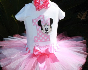 Minnie Mouse Birthday Tutu 3pc Set-Customized