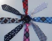 Newborn Necktie...Plaid Toddler Neckties...Boy Checkered Necktie...Special Occasion Neckties