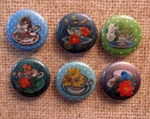 Interchangeable Magnetic Buttons or Pin Back Buttons - Tea Time
