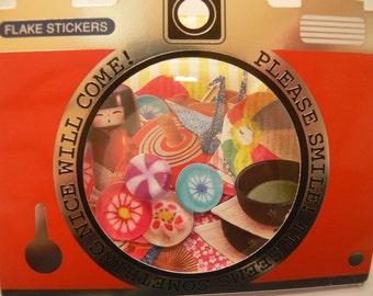 NEW Japan Qlia Photrip  70pcs sticker sacks Japan sweets,Crane,Tea etc