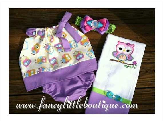 cute owl pillow case outfit set for baby