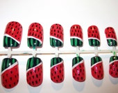 Watermelon False Nails