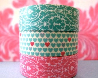 "SALE Washi Tape Mini Tower bouquet  ""Love & Luxury"" now in Matching Damask Gift Box ."