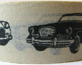 "CLEARANCE ""Vintage Cars"" Washi Tape 15mm x 10 Meters"