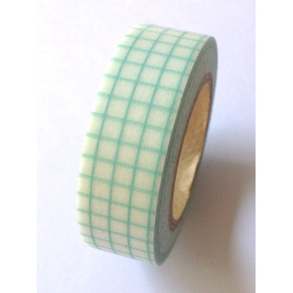 Light Blue Grid.....Washi Tape for Scrapbooking, Card Making, Paper Crafts