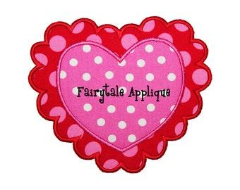 Digital Machine Embroidery Design -  Valentine Heart Applique