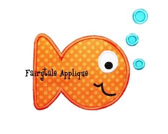 Digitial Machine Embroidery Design -  Goldfish Applique