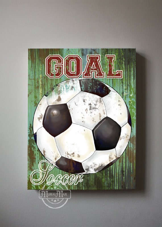 soccer art sports room decor canvas art soccer nursery decor
