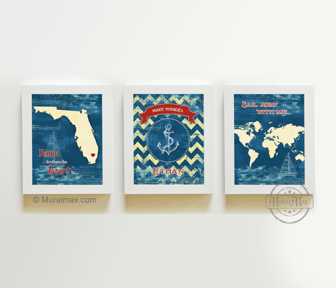 Nursery Art Baby Nursery Room Decor Nautical Nursery Print
