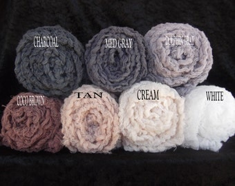 Newborn Hand Dyed Cheesecloth Photography Props.photo props.. Cheesecloth wraps Set of seven