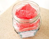 Salted Watermelon Jalapeno Limeade Sea Glass Candy in a Jar - Half-Pint - Summer Party Favors - BOSSGirlsInc