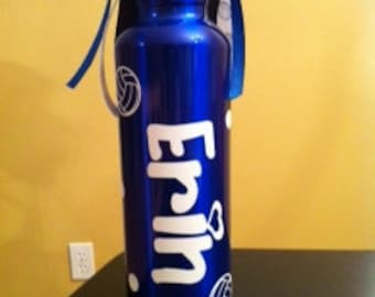 Personalized Team Sports Volleyball Water Bottle