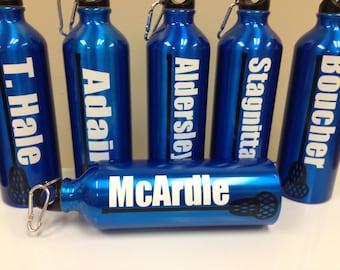 Personalized Team Sports Lacrosse Water Bottle