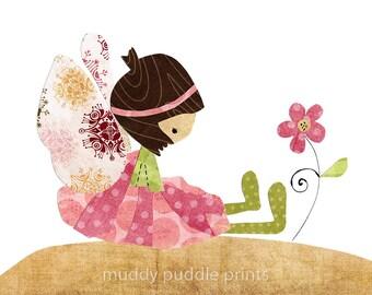 nursery decor, nursery art, girls room art, Fairy art print, kids room wall art - I do believe in fairies