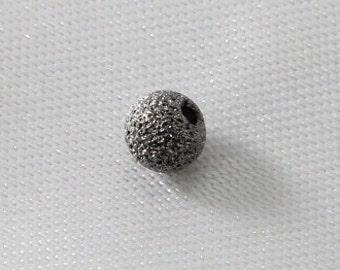 40 pcs - 4mm Gun Metal Stardust Beads