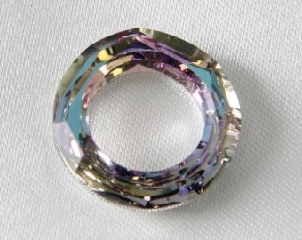 14mm Cosmic Round Donut Ring Swarovski Ring Vitrail Light