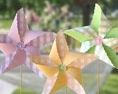 Pinwheels in Pink Combination Gingham : Printable