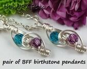 Friendship Jewelry BFF Jewelry Gift for Best Friends Gift Friendship Necklace Friendship Pendant Personalized Birthstone Jewelry ITEM0204